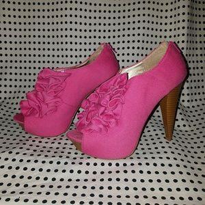 Pink Jersey Heels